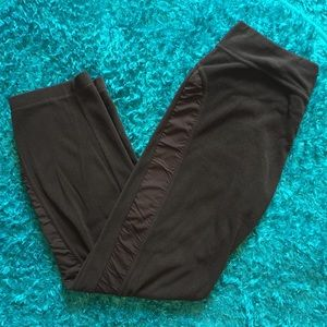 Dark brown workout pants
